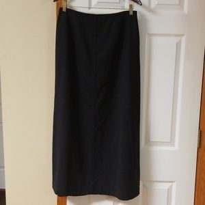 Talbots black long skirt